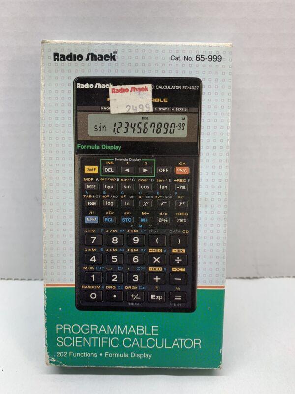 Radio Shack Programable Scientific Calculator EC 4027