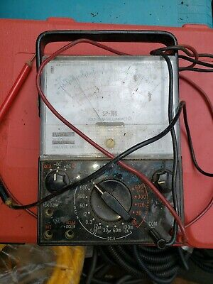 Vintage Simpson 160 Vom Analog Multimeter With Leads