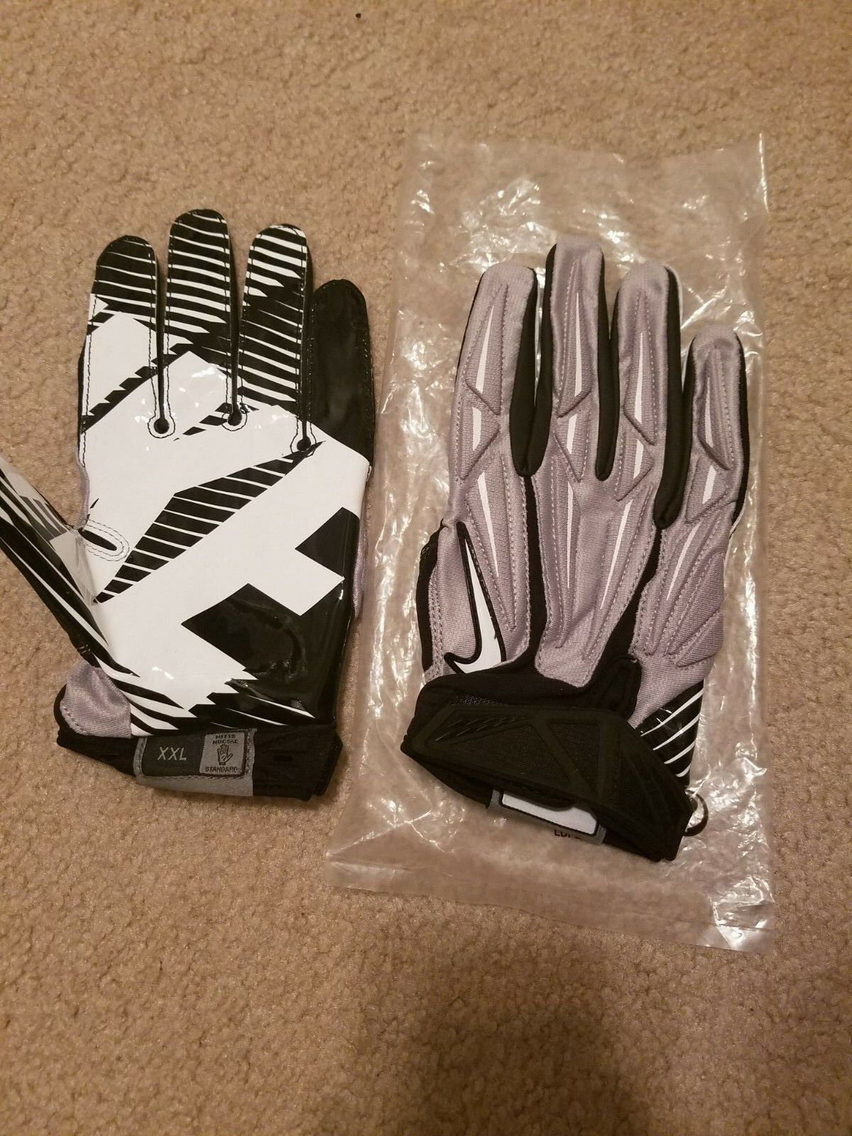 finest selection ad0ad 9ec4b NIKE SUPERBAD 2.0 ADULT HIGH-IMPACT PADDED SKILL POSITION FOOTBALL GLOVES,  NEW