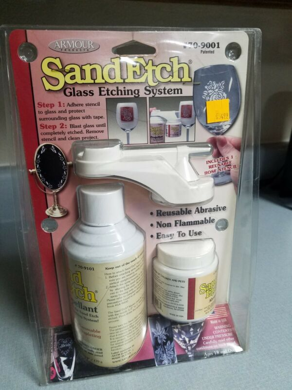 Armour Products Sand Etch Glass Etching System 70-9001- BRAND NEW -