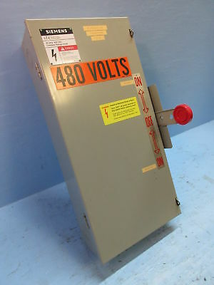 Siemens Nf351dtk 30 Amp 600v Double Throw Enclosed Switch Manual Transfer 30a