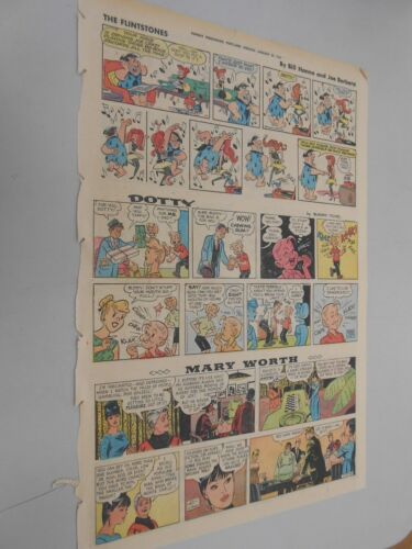 Sunday Comics- Jan. 29th1967- The Oregonian- Flintstones- Yogi Bear & More +++