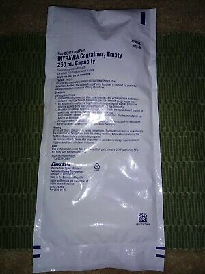 Intravia Container Iv Six Bags Non Dehp 250ml Medical Health Sealed New Baxter