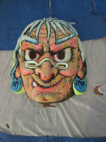 Vintage Witch Halloween Mask Costume Skirt Ben Cooper Collegeville 1960s Used