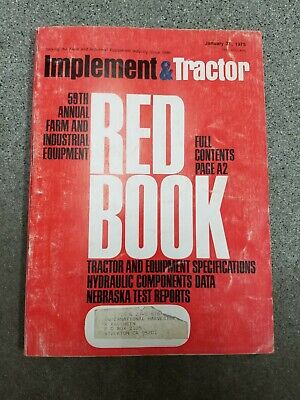 Vintage 1975 Implement Tractor Farm Equipment Red Book 59th Annual Edition