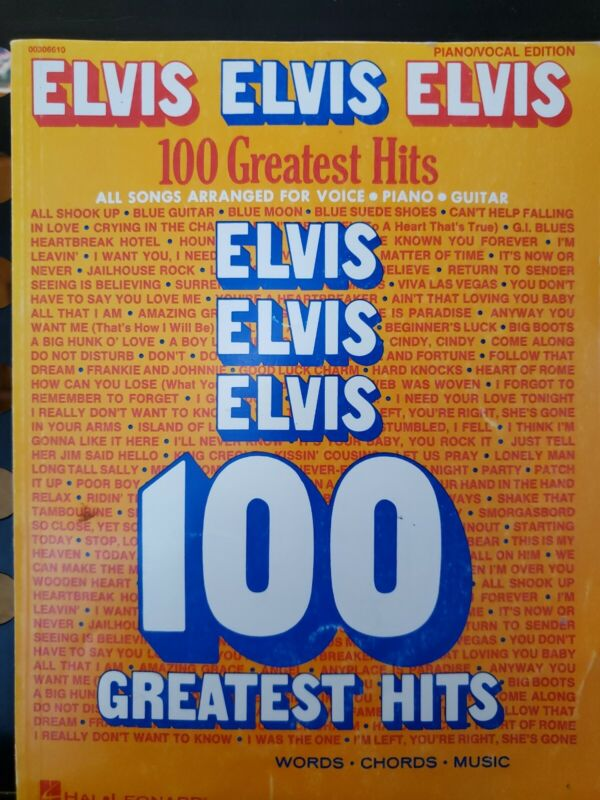 Elvis 100 Greatest Hits VOICE PIANO GUITAR Songbook Sheet Music Book