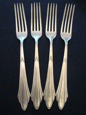 SET 4 DINNER FORKS! Vintage EUROPEAN WMF silverplate: FACHER pattern: LOVELY ()