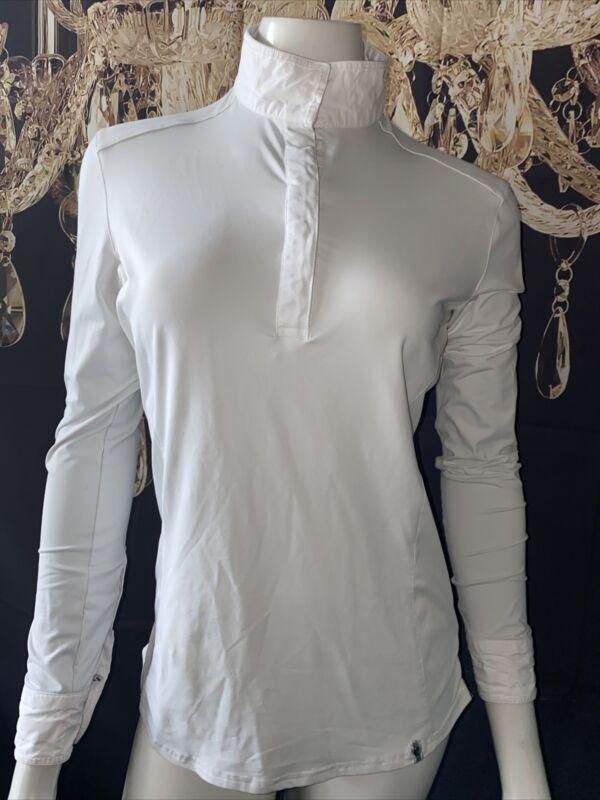 Tredstep Symphony Futura Compression Shirt -White Collar Long Sleeve  Large