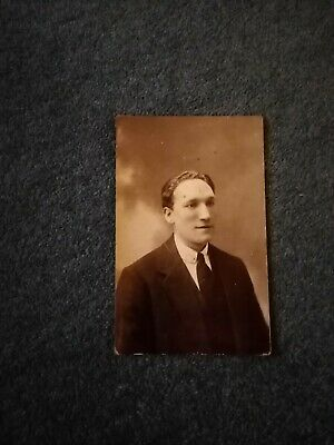 New 1930s Mens Fashion Ties B3d  photograph bw old undated 1920s man in black tie $2.80 AT vintagedancer.com
