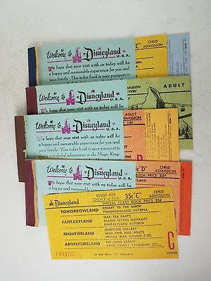 Welcome To Disneyland Usa Ticket Booklets