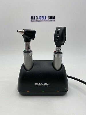 Welch Allyn Desk Charger 7114x Opthalmoscope 11720 And Otoscope 25020a