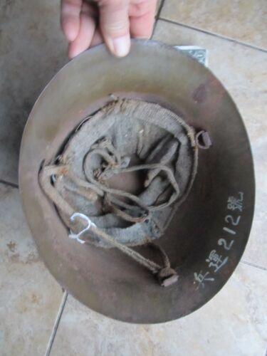 Nice Identified WWII Japanese Steel Helmet, Marine Vet Pacific Combat Souvenir