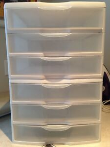 2 SETS OF 3 STORAGE DRAWERS