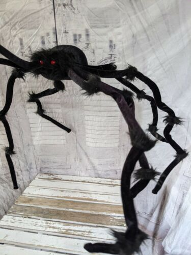 Huge hanging static spider Halloween prop decor