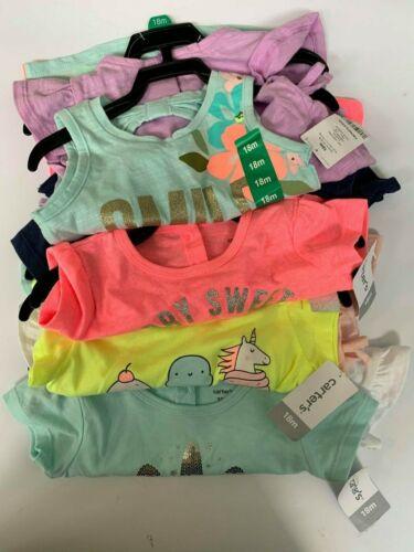 NEW Carters Girls 2 Pack Short Sleeve Shirt