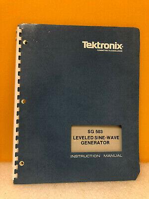 Tektronix 070-1622-01 Sg 503 Leveled Sine-wave Generator Instruction Manual
