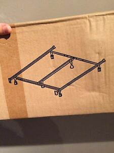Double bed frame - extends to queen