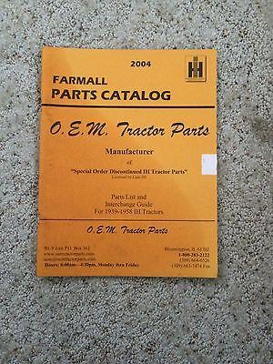2004 Farmall Parts Catalog O.e.m. Tractor Parts Mk