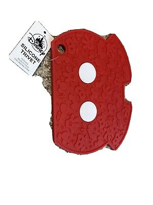 Disney Parks Silicone Trivet Mickey Mouse Body Kitchen Plate Holder Mat - NEW