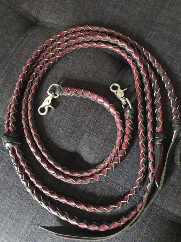 Schutz Bros Western Braided Leather Split Reins