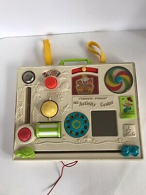 Vintage 1973  Fisher Price Activity Center with Crib Mount # 134 Busy Box