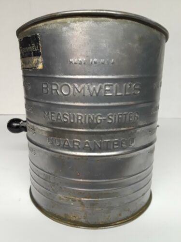 Vintage Bromwell's 5 Cup Flour Measuring Sifter with Tag