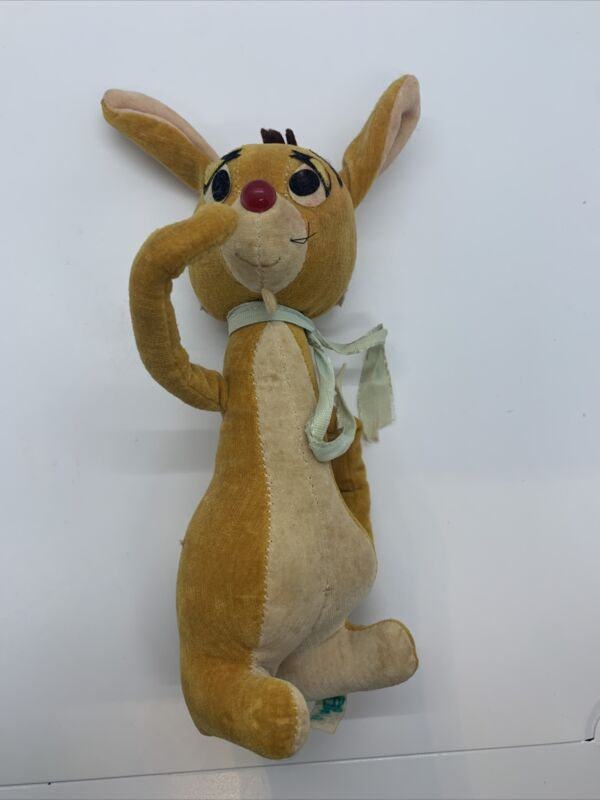 Vintage Rare MCMLXVI Winnie The Pooh Rabbit Plush Wood Chip Stuffed Corduroy