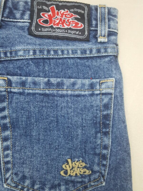 Vintage 90s Jnco Basic 23 Wide Leg Blue Jeans juniors Size 14 26 Inseam USA MADE