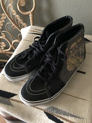 RARE VANS SK8-HI TOP IRON MAIDEN PIEACE OF MIND SHOES MENS SZ 11
