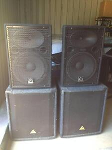 2x Wharfedale Pro LX – 15 Speakers and 2 Behringer Eurolive B180 Cowaramup Margaret River Area Preview