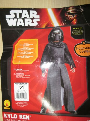 NWOT Star Wars Kylo Ren Med Boys 8-10 Dress Up Costume The Force Awakens