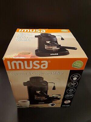 IMUSA Espresso & Cappuccino Maker Black - 4 Cup, Model GAU-18202