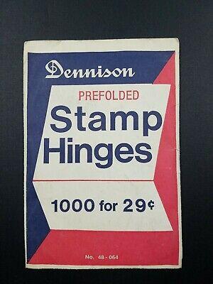 Vintage Dennison Stamp Hinges Unopened Packet -Pre-Folded 1000+ 1.5oz