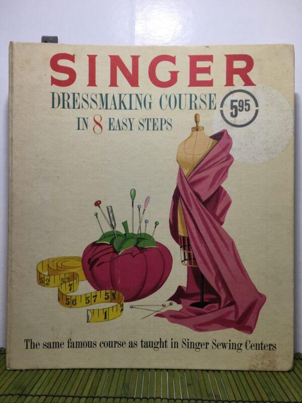 Vintage Singer Dressmaking Course in 8 Easy Steps 1961 3 Ring Binder
