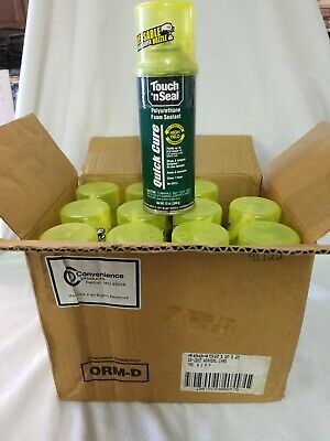 Touch N Seal Quick Cure Polyurethane Foam Sealant 12oz Can12 Cans Class 1 Foam