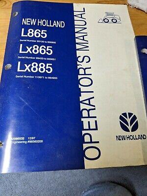 New Holland L865 Lx865 Lx885 Skid Steer Loader Issued Operators Manual Oem