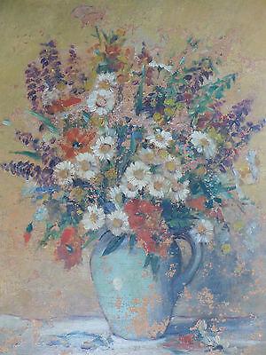 Ölgemälde: Blumenstrauß. Stilleben des Expressionismus / um 1920 / unsigniert