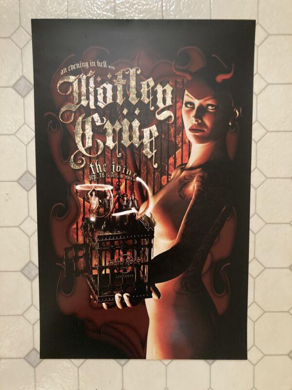 Motley Crue concert poster Vegas