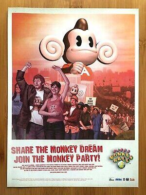 Super Monkey Ball 2 Nintendo Gamecube 2002 Vintage Print Ad/Poster Official UK