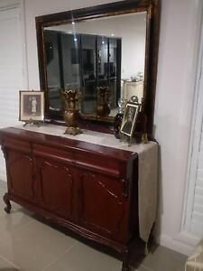 Superb Cedar Buffet + Large Tortoiseshell Mirror $1,550 for BOTH Pitt Town Hawkesbury Area Preview