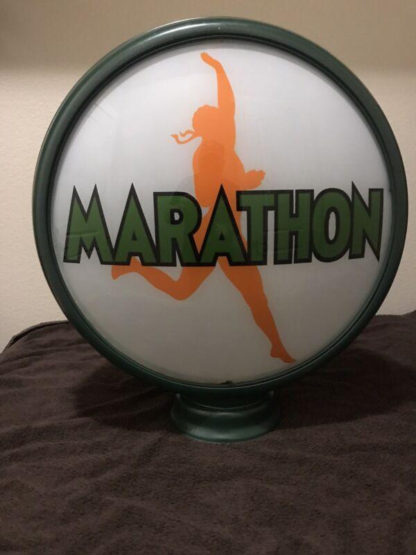 Vintage Original Marathon Gas Pump Globe.