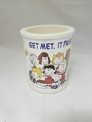 Peanuts Snoopy Metlife Insulated Cup Can Holder