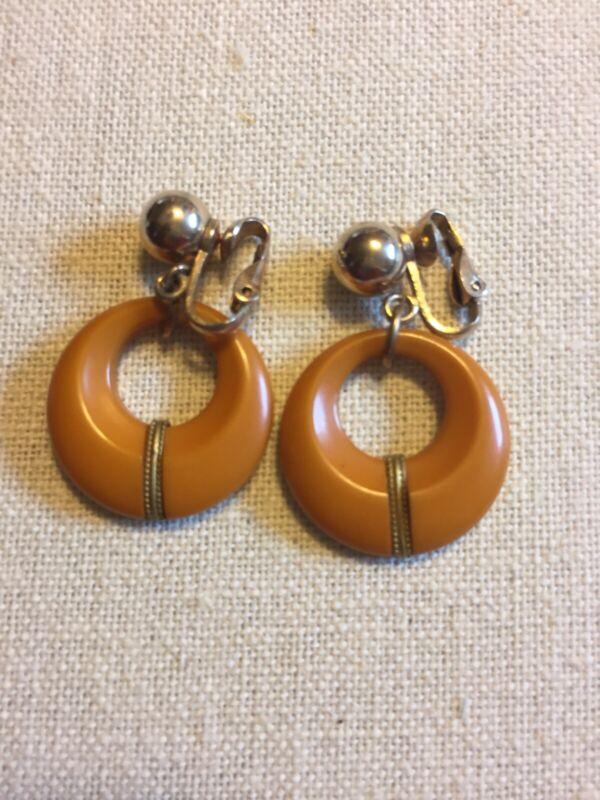 Vintage Bakelite Hoop Earring Clip