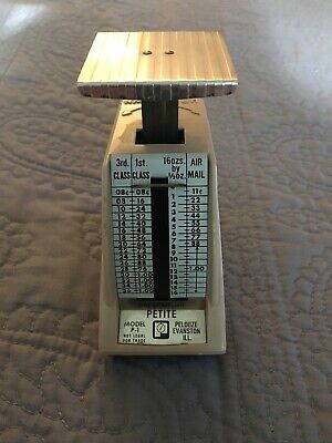Vintage Pelouze Us Postal Scale Model P-1 Rates Effective May 1971