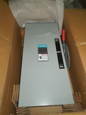 Siemens Dtgnf223nr 100a 2p 240v 3r Double Throw Non-fused Manual Transfer Switch