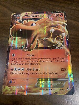 Jumbo Pokemon Charizard EX Stoke Fireblast Hologram Card