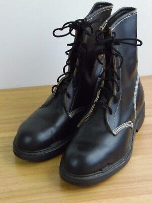 Vintage 'Used' Men's Hy-Test Steel Toe Farm Work Boots Black size  6 EEE