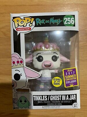 Funko Pop #256 Rick And Morty Tinkles Ghost In A Jar Glow 2017 SDCC +