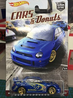 Hot Wheels 2021 Car Culture Cars & Donuts Custom Rally Subaru WRX W/RR's