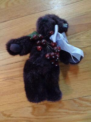 """Purple Annette Funicello Grape Suzette ~ 12"""" ~ Collectible Bear ~ Very cute!"""